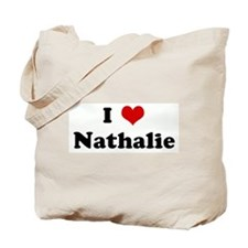 I Love Nathalie Tote Bag
