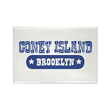 Coney Island Rectangle Magnet