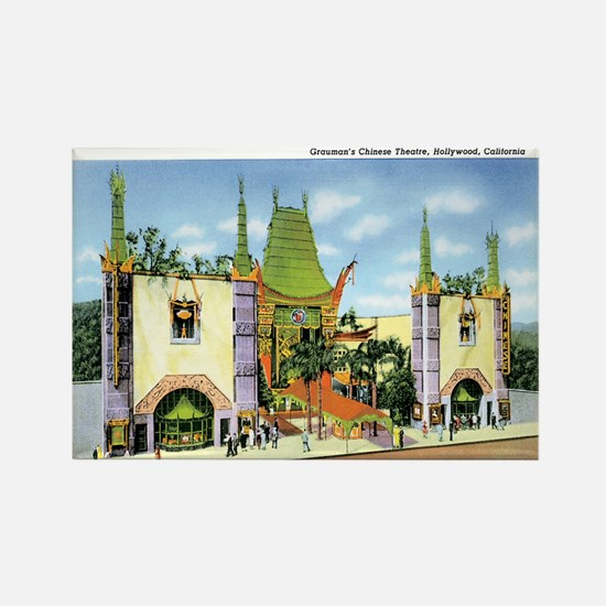 Hollywood California Rectangle Magnet