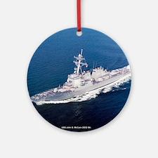 USS John S. McCain Ornament (Round)