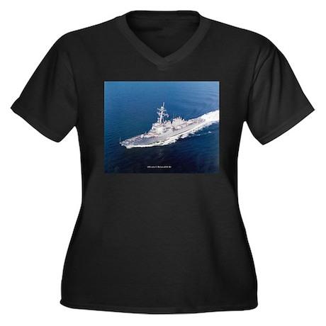 USS John S. McCain Women's Plus Size V-Neck Dark T