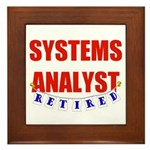 Retired Systems Analyst Framed Tile
