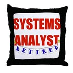 Retired Systems Analyst Throw Pillow