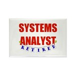 Retired Systems Analyst Rectangle Magnet