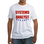 Retired Systems Analyst Fitted T-Shirt