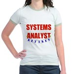 Retired Systems Analyst Jr. Ringer T-Shirt