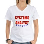 Retired Systems Analyst Women's V-Neck T-Shirt