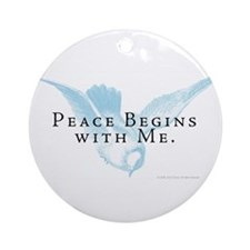Peace Begins With Me Ornament (Round)