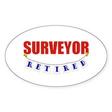 Retired Surveyor Oval Sticker (10 pk)