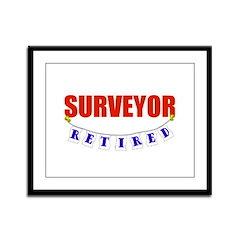 Retired Surveyor Framed Panel Print