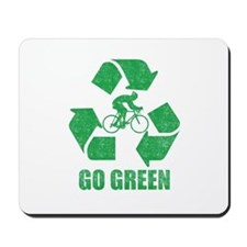 Go Green Cycling Washed Mousepad
