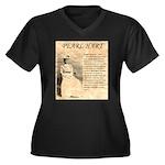 Pearl Hart Women's Plus Size V-Neck Dark T-Shirt