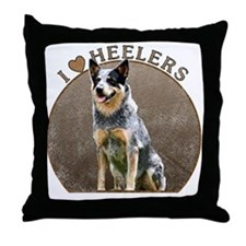 Australian Blue Heeler Throw Pillow