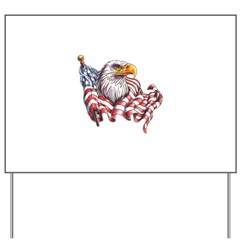 Eagle & Old Glory Yard Sign