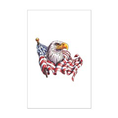 Eagle & Old Glory Posters