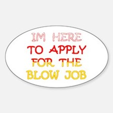 APPLY 4 BLOWJOB/reds-yellow Oval Decal