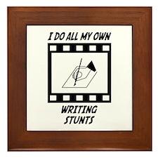 Writing Stunts Framed Tile