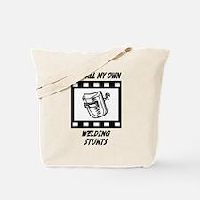 Welding Stunts Tote Bag