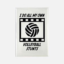 Volleyball Stunts Rectangle Magnet