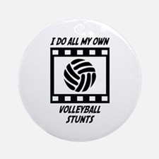 Volleyball Stunts Ornament (Round)