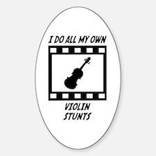 Violin Stunts Oval Decal