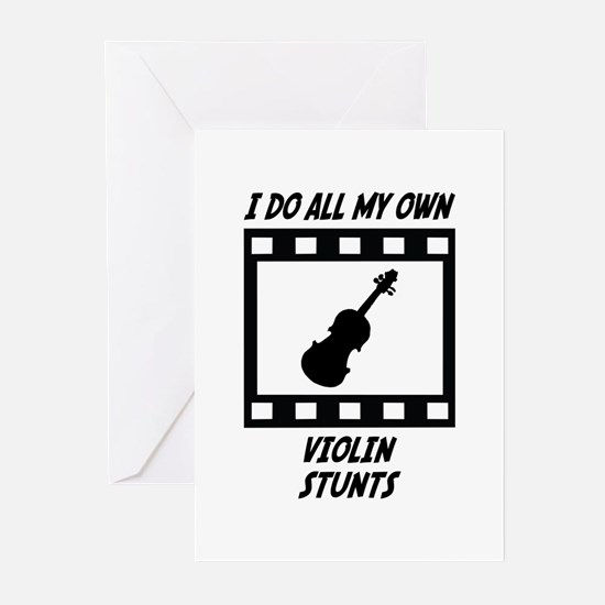 Violin Stunts Greeting Cards (Pk of 10)