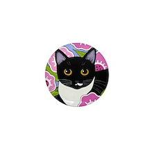 SASSY Black and White Tuxedo CAT Mini Button PIN