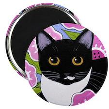 SASSY Black and White Tuxedo CAT Magnet