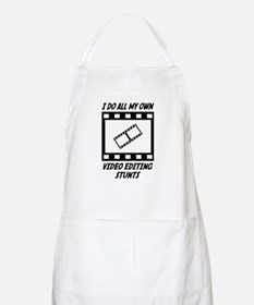 Video Editing Stunts BBQ Apron