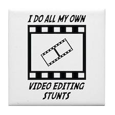 Video Editing Stunts Tile Coaster