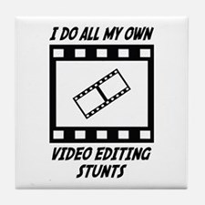 Video Editing Stunts Tile Coaster