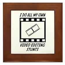 Video Editing Stunts Framed Tile