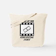 Video Editing Stunts Tote Bag