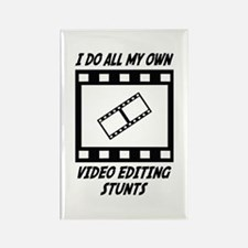 Video Editing Stunts Rectangle Magnet (100 pack)