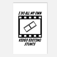 Video Editing Stunts Postcards (Package of 8)