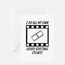 Video Editing Stunts Greeting Card