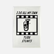 Tuba Stunts Rectangle Magnet