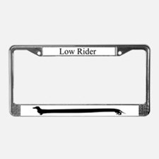Dachshund Low Rider License Plate Frame