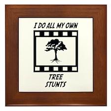 Tree Stunts Framed Tile