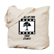 Tree Stunts Tote Bag