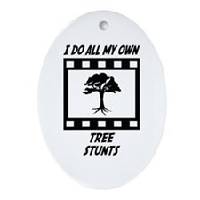 Tree Stunts Oval Ornament