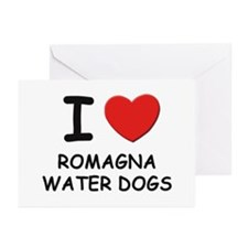I love ROMAGNA WATER DOGS Greeting Cards (Pk of 10