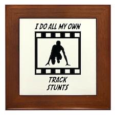 Track Stunts Framed Tile