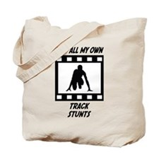 Track Stunts Tote Bag
