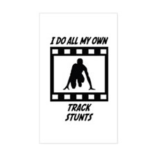 Track Stunts Rectangle Decal