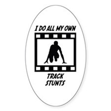 Track Stunts Oval Decal