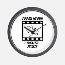 Theater Stunts Wall Clock