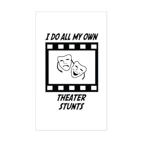 Theater Stunts Rectangle Sticker