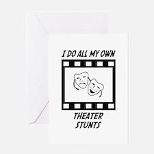 Theater Stunts Greeting Card