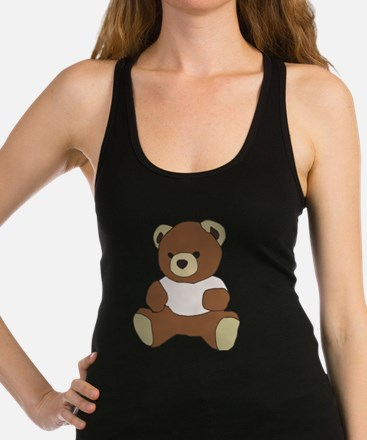Cute Teddy Bear In Pink Top Tank Top